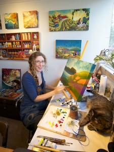 Mylène in her workshop © Robert Baronet