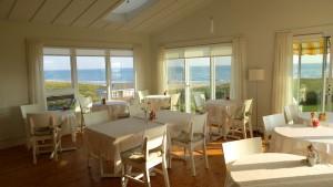 Salle à manger de Havre-sur-Mer avec vue sur ... la mer © David Lang