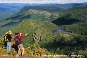 Sommet du pic de l'Aube avec ses panoramas impressionnants © Mathieu Dupuis, parc national de la Gaspésie, Sépaq