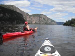 Kayak sur la rivière Sainte-Marguerite © Ghislain Boisvert / Tourisme Sept-Îles