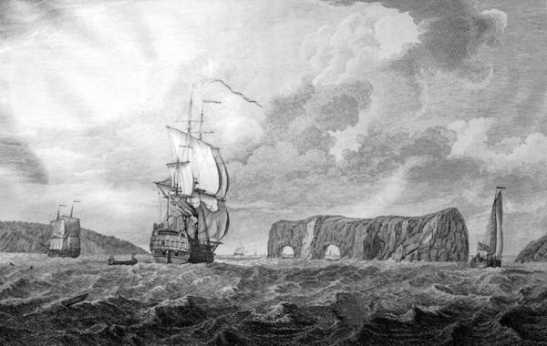 Percé Rock in the 18th century