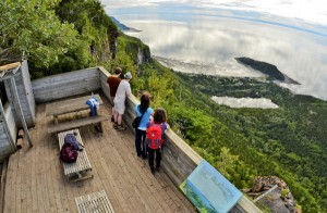 Pic Champlain's panoramic viewpoint in Bic National Park © Marc Loiselle