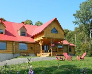 The largest log inn in Québec, Domaine Valga in Bas-Saint-Laurent
