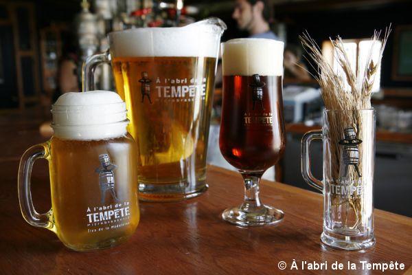 Les bières de à l'abri de la Tempête