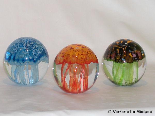 Les méduses en verre de Verrerie La Méduse