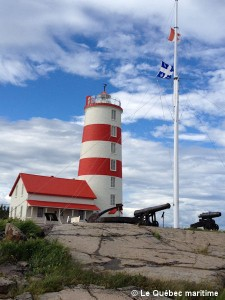 Pointe-des-Monts Lighthouse near Baie-Trinité