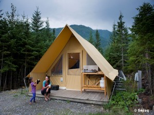 Prêt-à-camper, parc national de la Gaspésie