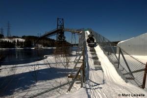 Snowmobile Bridge Baie-Comeau