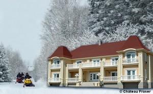 Château Fraser_snowmobile