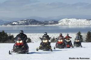 Snowmobiling Kamouraska