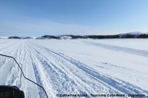 motoneige route blanche