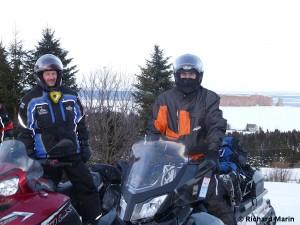 snowmobile Perce Rock