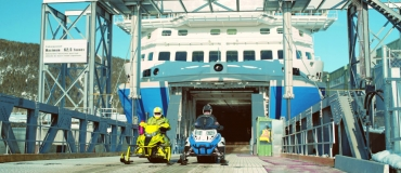 Experience the St. Lawrence Tour and Take the Ferry with Your Snowmobile!