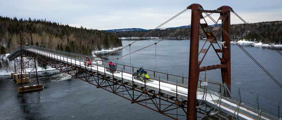 What to See by Snowmobile in Eastern Québec: The Manicouagan Bridge