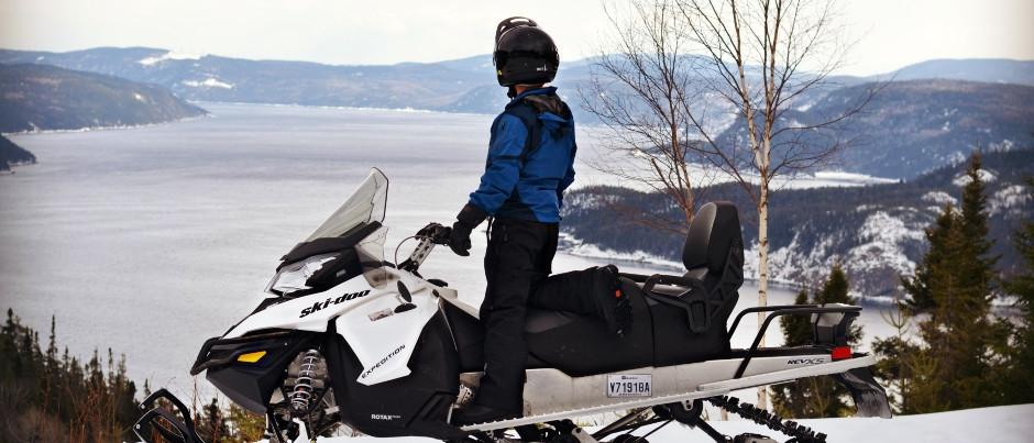 À voir en motoneige : le fjord du Saguenay