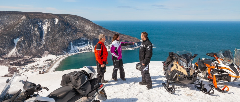 What to See by Snowmobile in Eastern Québec: Mont-Saint-Pierre