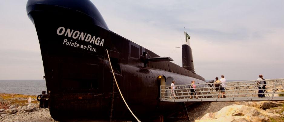 Mon escapade au Bas-Saint-Laurent : Le sous-marin Onondaga au Site historique maritime de la Pointe-au-Père
