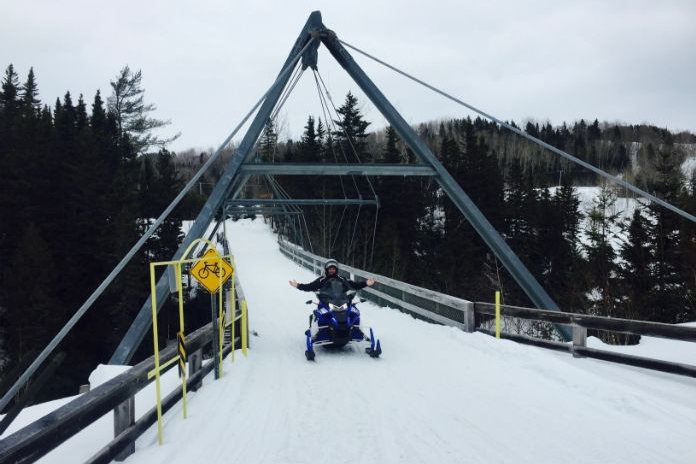 Snowmobile bridges
