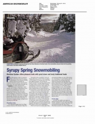 Syrupy Spring Snowmobiling