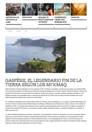 Gaspésie, el legendario fin de la tierra segùn los mi'kmaq