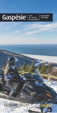 Gaspésie snowmobile trail map