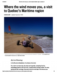 Where the wind moves you, a visit to Quebec's Maritime region