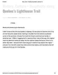 Quebec's Lighthouse Trail