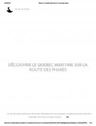 Découvrir le Québec maritime sur la route des Phares