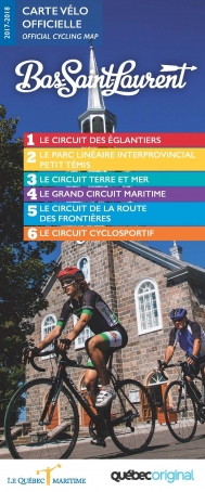 Bas-Saint-Laurent Cycling Map
