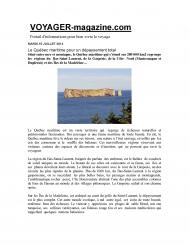Le Québec maritime pour un dépaysement total