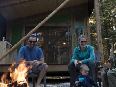Prêt-à-camper Étoile au parc national du Bic